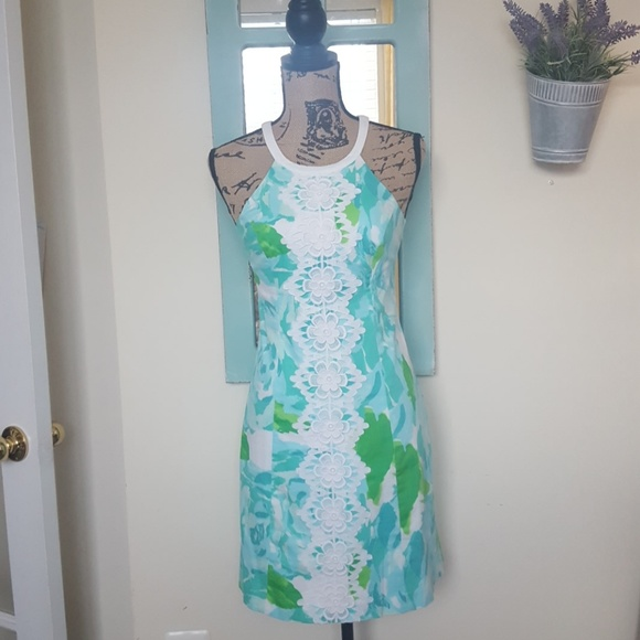 NWT LILLY PULITZER PEARL SHIFT SZ 0 POOLSIDE BLUE FIRST IMPRESSION